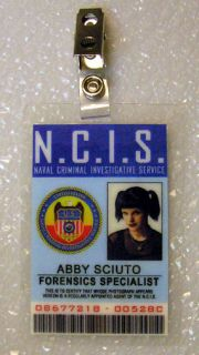 NCIS TV Series ID Badge Forensic Specialist Abby Sciuto