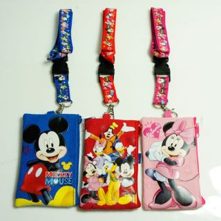 Mickey Mouse Friends Lanyard Fastpass ID Ticket iPhone Badge Holder