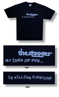 New Iggy Pop The Stooges Idea of Fun Black Large T shirt