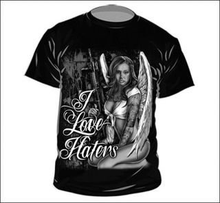 LOVE HATERS, TATTOO GRAPHIC T SHIRT. HEAVY COTTON. TOP QUALITY.*
