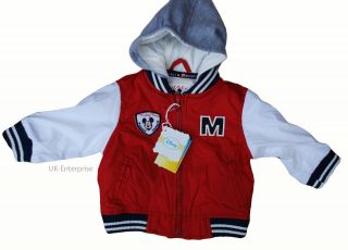 Disney Mickey Mouse Nylon Baseball Jacket 3 6 9 month NEW WITH TAGS