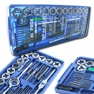 BLUE BOX 40 Pc MM METRIC Tap & Die Set Bolt Screw Extractor/Pull​er