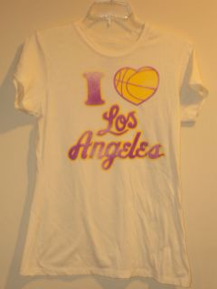NBA Hardwood Lakers White ( I Love Los Angeles Lakers ) T shirt