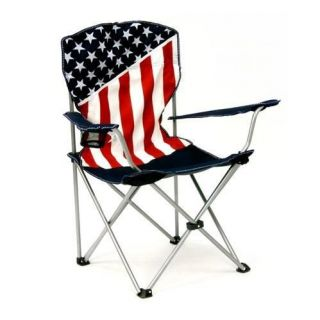 PATRIOTIC AMERICAN America FLAG Portable FOLDING CHAIR & Carry BAG