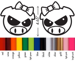 Subaru Impreza WRX STI Rally Girl Angry Pig Vinyl Decal Sticker   Set