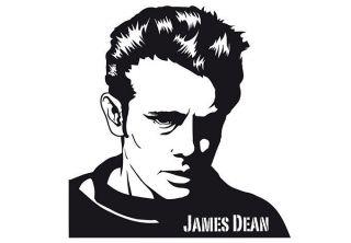 James Dean   Vinyl Wall Art Sticker   Vinyl Decal   Wall Art