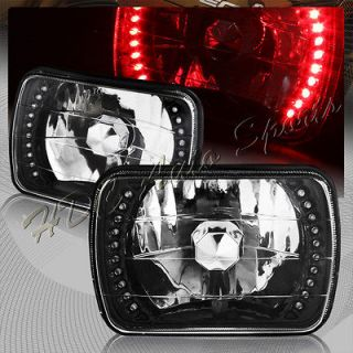 Chrome Housing Clear Lens Headlight Lamps (Fits Jeep Cherokee