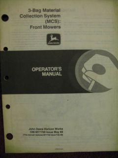 John Deere 3 Bag MCS Bagger for F910 F912 F915 F930 F932 F935 Operator