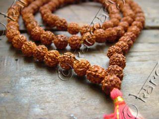 RUDRAKSH JAPA MALA ROSARY 108 +1 BEAD YOGA HINDU PRAYER MEDITATION YOG