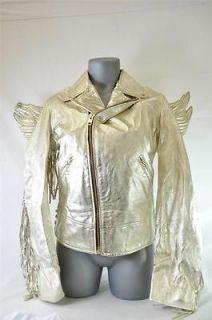 NEW ADIDAS ObyO JEREMY SCOTT GOLD WINGS Leather Jacket Originals MEN