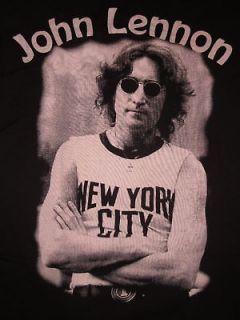 John Lennon NYC T shirt Womens JuniorsNew York City Tee Small Black