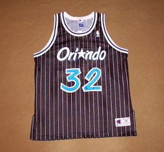 VINTAGE Orlando Magic JERSEY Shaquille ONeal BASKETBALL Champion NBA