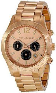 Michael Kors Layton Rose Gold tone Chronograph Mens Watch MK8186