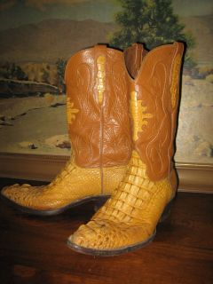Black Jack hand made Alligator Hornback western cowboy Boots mens 9.5