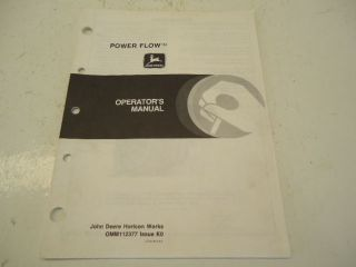 John Deere power flow bagger operators manual OM M112377 30 pages