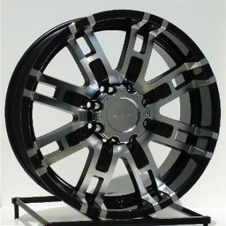 20 inch Black Wheels/Rims Chevy HD Dodge Ram 2500 Truck