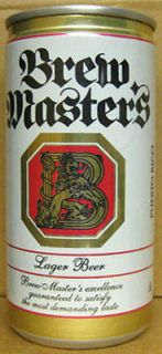 brew master s beer pull tab top can puerto rico