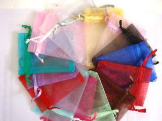 50x 3X3.5 Mixed Color Plain Organza Wedding Jewelry Favor Pouch Gift