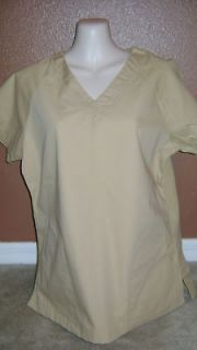smarty pants nwt khaki katherine heigl scrub top medium