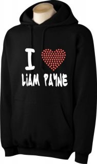 love liam payne girls hoodie with rhinestud heart more options size