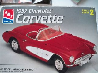 amt 1957 corvette car model kit 8212