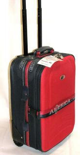 20 upright wheel luggage suit case carry on red blue