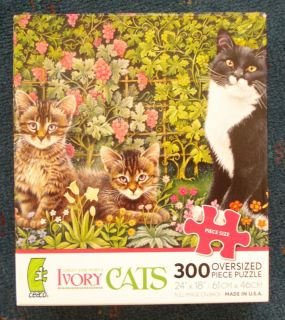 jigsaw puzzle Lesley Anne Ivory CATS 300 oversized pcs