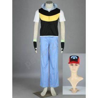 Pocket Monster Pokémon Ash Ketchum cosplay costume included hat