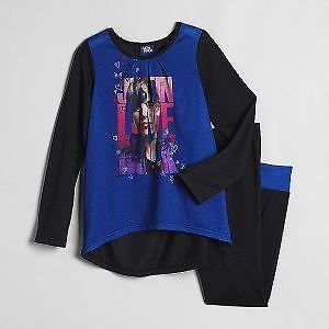 Justin BIEBER Cute Blue & Black Shirt Pants PAJAMAS Pjs 6/7 NeW 2