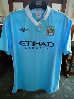 MANCHESTER CITY Short Sleeve Home Shirt 2012 MED Adults 40 BNWT Umbro