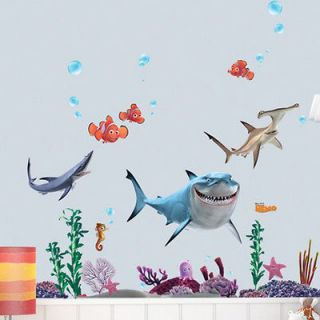 FINDING NEMO Wall Sticker Decor Removable Vinyl Nursery Kids Room