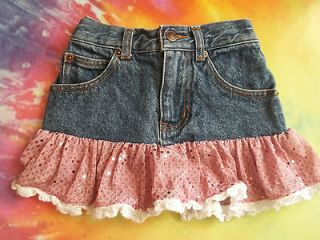 Boutique KIDDIE KORRAL Western Wear Denim SHIRT Girls Sz 3 Pink Sequin