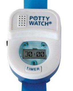 kids toddler potty time watch toilet training aid blue time