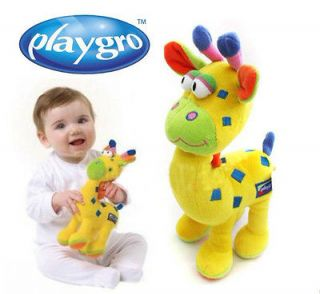 Baby Kids Children Soft Stuffed Plush Comfort Squeaky Giraffe