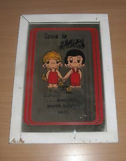 Love Is Something Worth Holding Onto By Kim Wall Mirror 1970 Framed