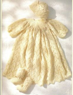 1940s Baby Christening Gown Knitting Pattern>Knitting>Jumpers