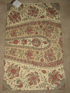 POTTERY BARN JOSIE KALAMKARI TERRA COTTA LUMBAR PILLOW COVER