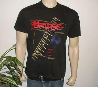 CONCERT* vtg shirt (L) 80s Neil Young Elvis Costello Jackson Browne