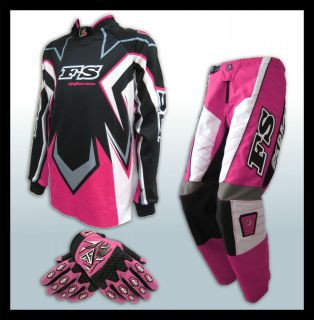Youth Jersey+Pants+G​loves Dirt Bike Gear/BMX/Off r​oad/Junior/Kid