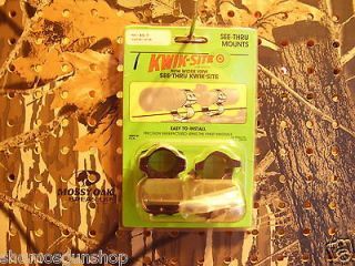 Rings KWIK SITE 1 See Thru For Remington Model Seven Bolt Action