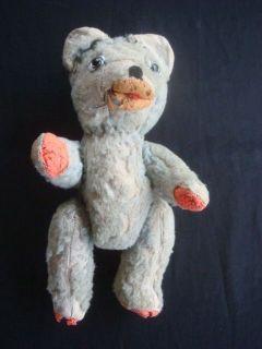 vintage antiqu e teddy bear rare human like glass eyes