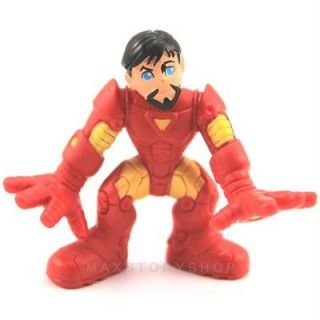 MARVEL SUPER HERO SQUAD IRON MAN FIGURE NO HELMET The Avengers FW870