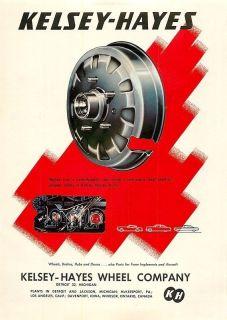 1953 kelsey hayes wheel co drums vintage ad