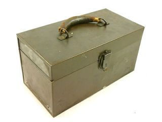 Small Vintage KENNEDY Metal Tool Box Tackle Box Removable Tray Parts