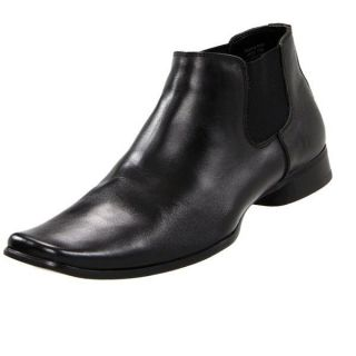 Kenneth Cole Reaction Keeping Note Mens Black Dress Boot Casual Shoes