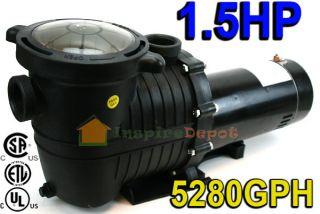 5HP 5280GPH Inground Swimming Pool Pump w/ Strainer UL LISTED