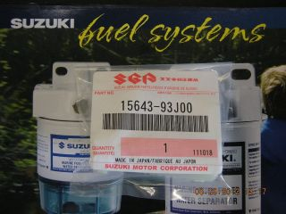 15643 93J00 Suzuki Outboard DF 200/225/250 HP New Fuel Filter