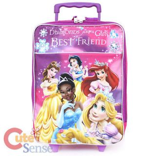 Disney Princess Rolling Luggage Soft Padded Suite Case Travel Bag with