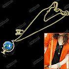 Hot New Fashion Cute Globe Binocle Charm Chain Necklace Pendant