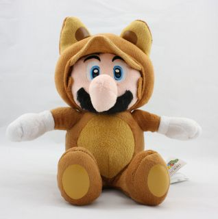 Super Mario Bros 11 Raccoon Mario Soft Stuffed Plush Doll Toy W